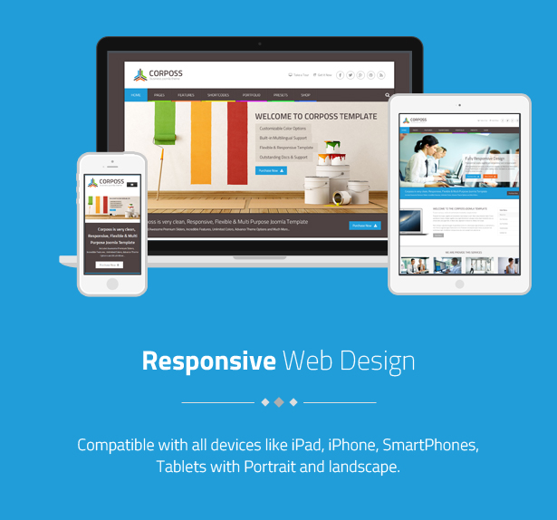 Corposs - Responsive Business Drupal Theme