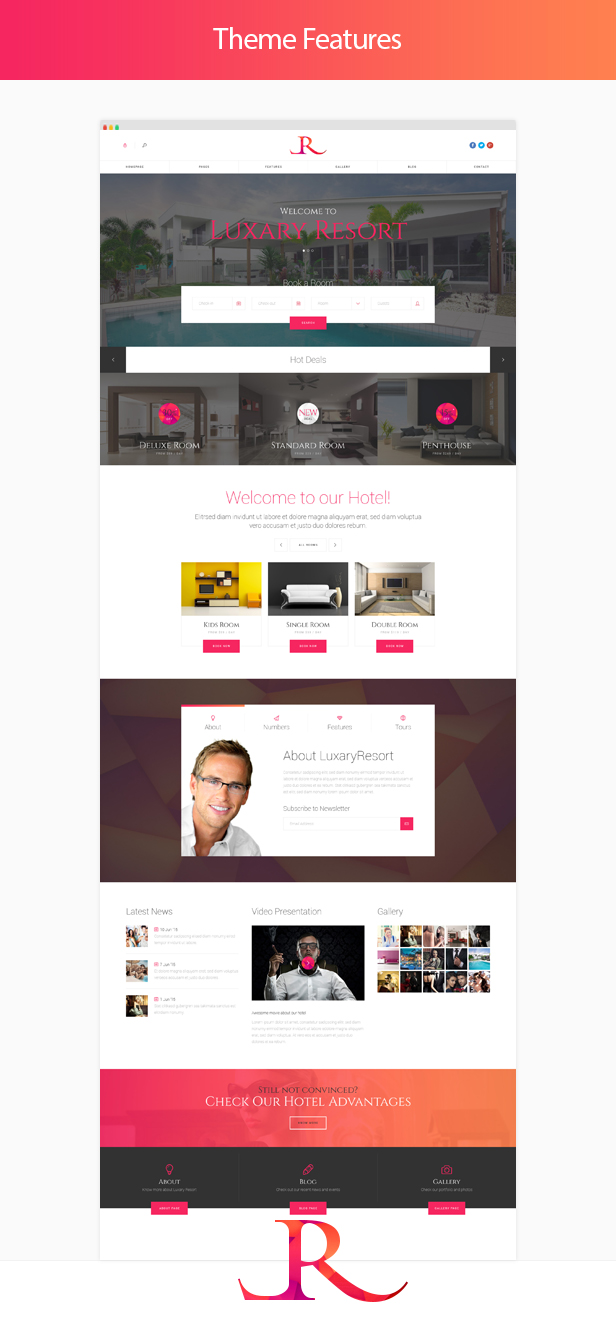 Luxary Resort - Hotel & Resort WordPress Theme