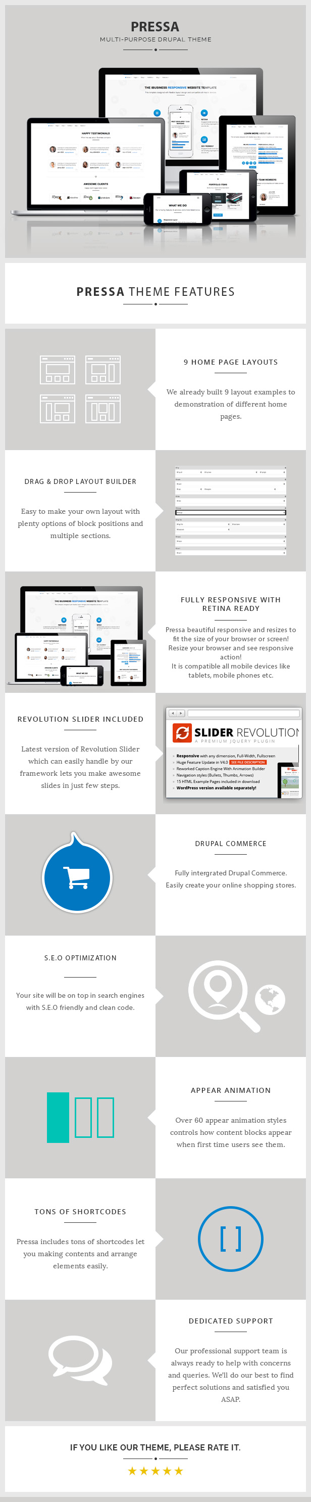 Pressa - Multi-Purpose, eCommerce Drupal Theme