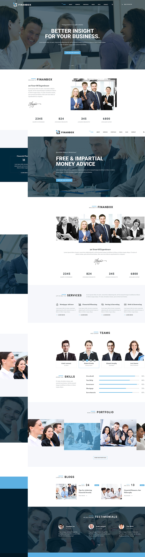 Finanbox WordPress Theme