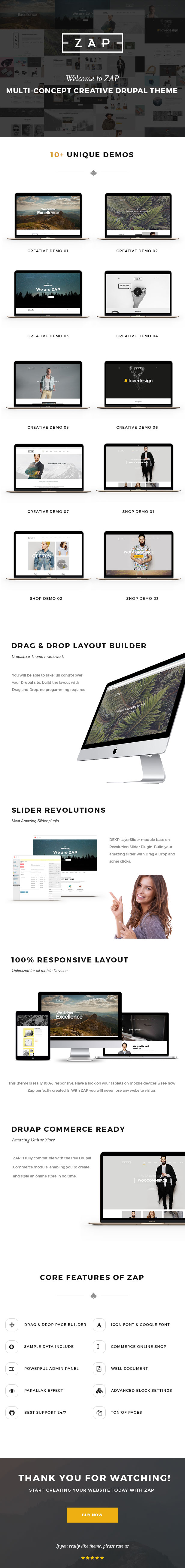 description - ZAP - Multi-Purpose Drupal Theme